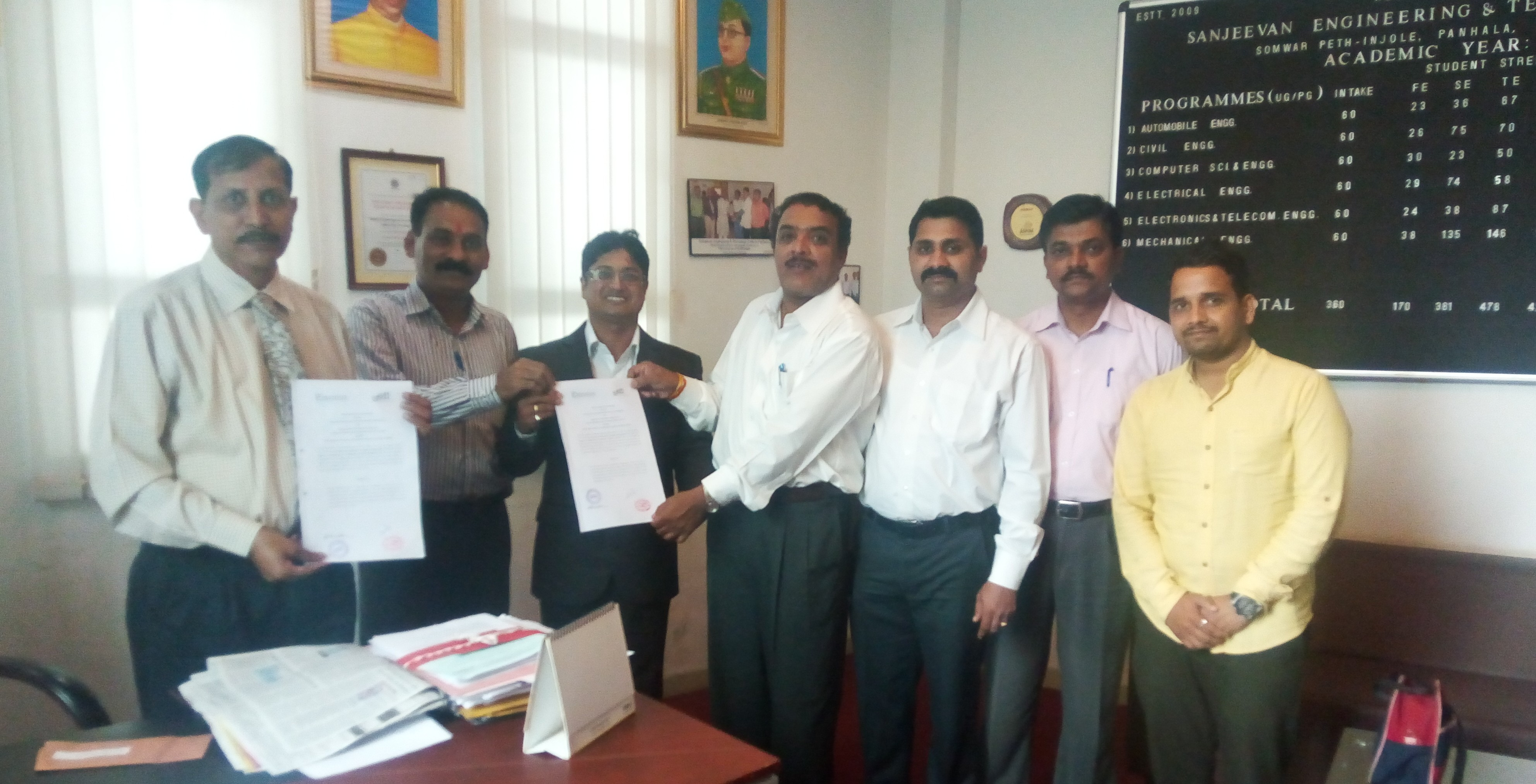 MoU Signed with Envision Institute by Mech Dept.